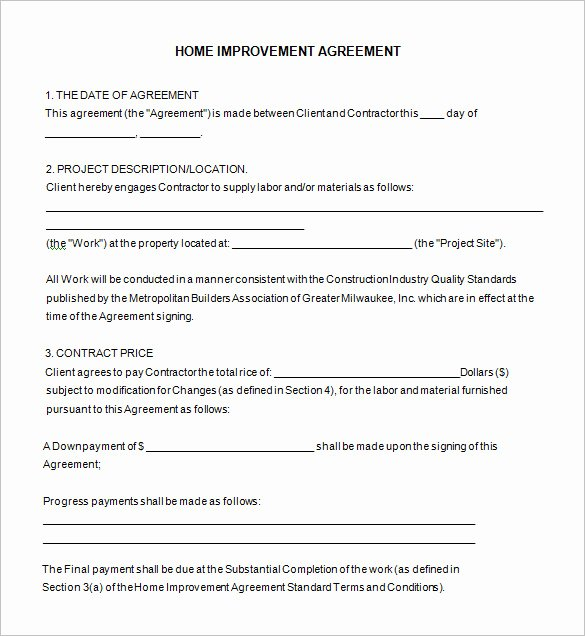 10 Home Remodeling Contract Templates Word Docs Pages