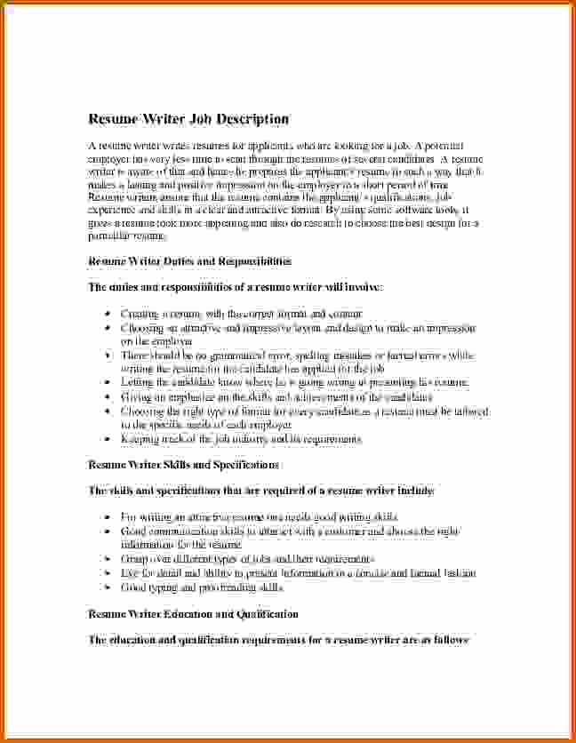 10 How to Write Job Description On Resume