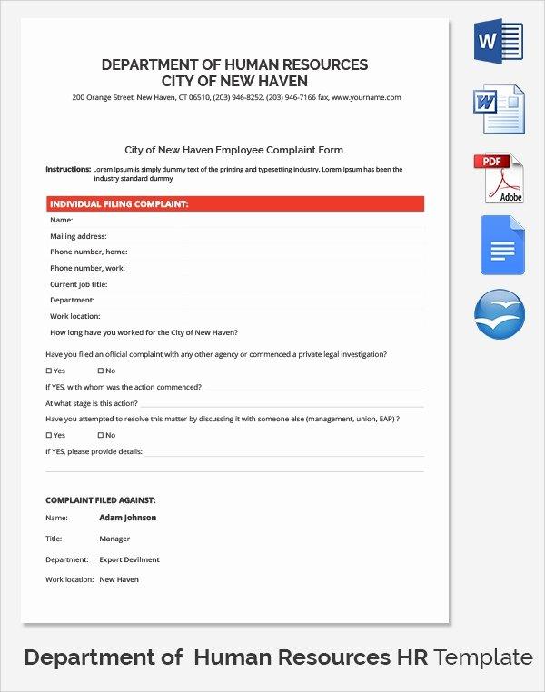 10 Hr Plaint forms