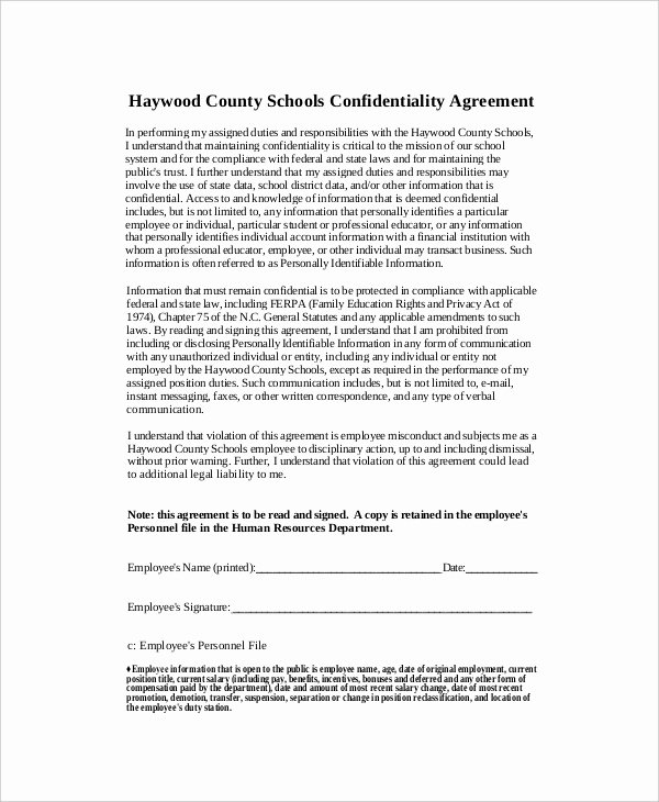 10 Human Resources Confidentiality Agreement Templates