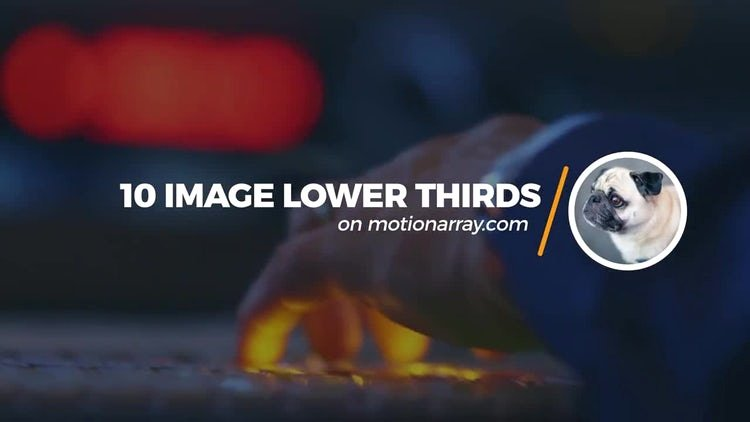 10 Image Lower Thirds after Effects Templates