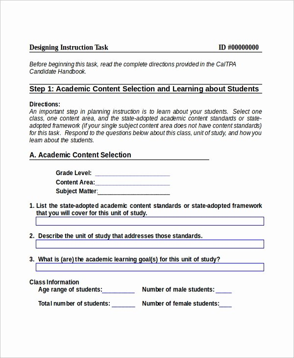 10 Instruction Templates Free Sample Example format