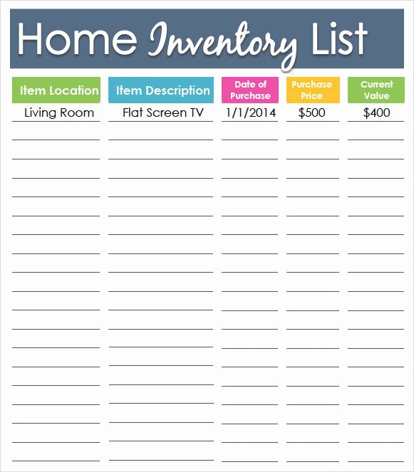 10 Inventory List Templates