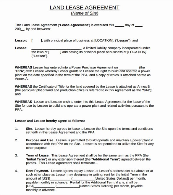 10 Land Lease Agreement Templates