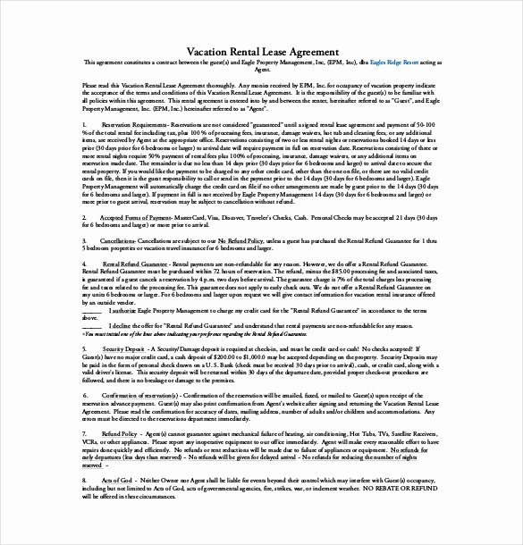 10 Lease Agreement Templates – Free Sample Example