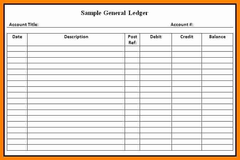 10 Ledger Paper Template Free