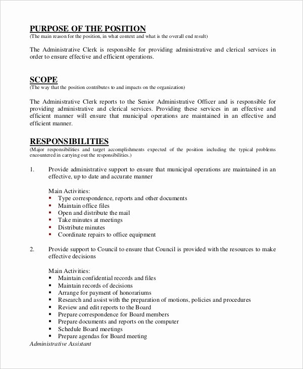 10 Legal assistant Job Description Templates Pdf Doc