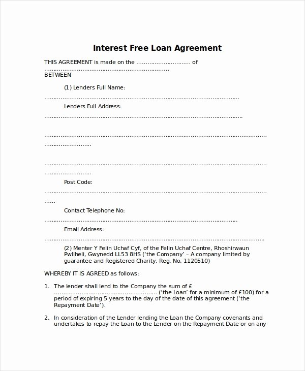10 Loan Agreement Templates Word Pdf Pages