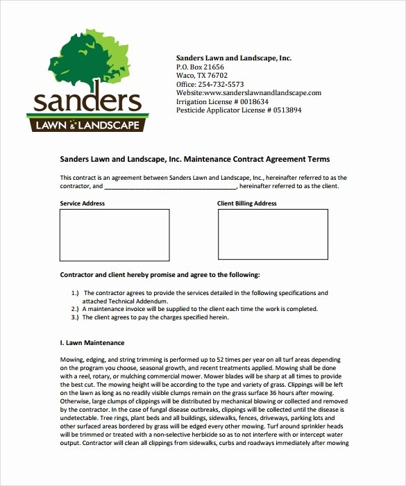 10 Maintenance Contract Templates Free Word Pdf