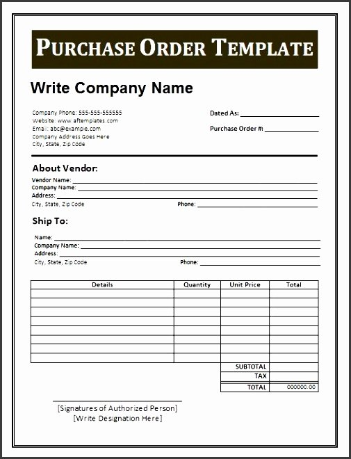 10 Material Purchase order Template Sampletemplatess