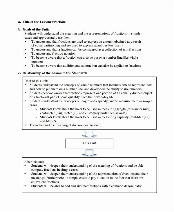 10 Math Lesson Plan Templates