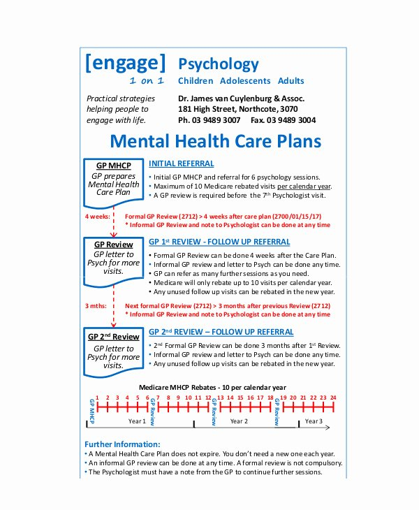10 Mental Health Care Plan Templates Pdf Doc