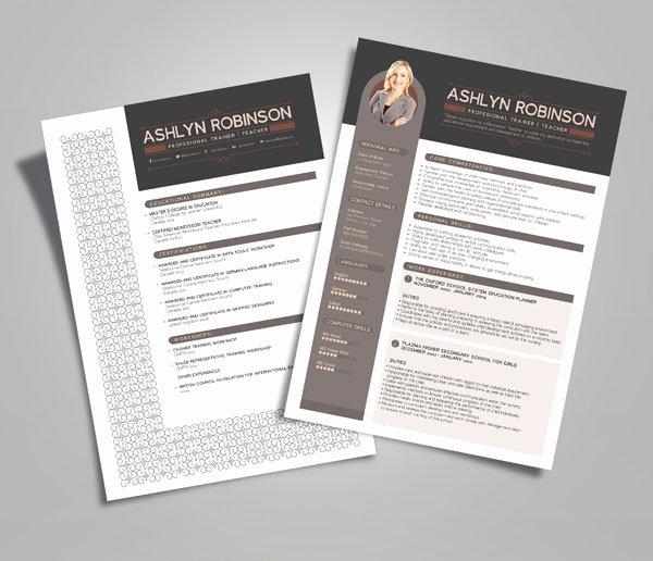 10 Newest Free & Premium Resume Templates for Graphic