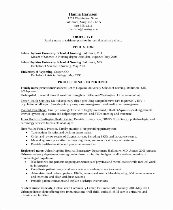 10 Nurse Resume Templates Pdf Doc