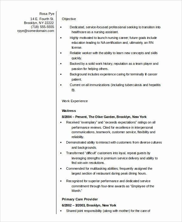 10 Nurse Resume Templates Pdf Doc