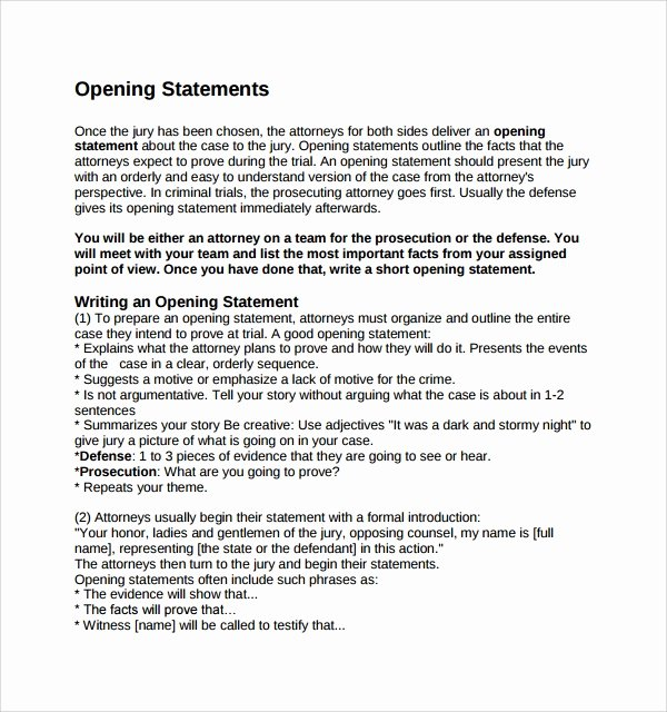 10 Opening Statement Templates to Download