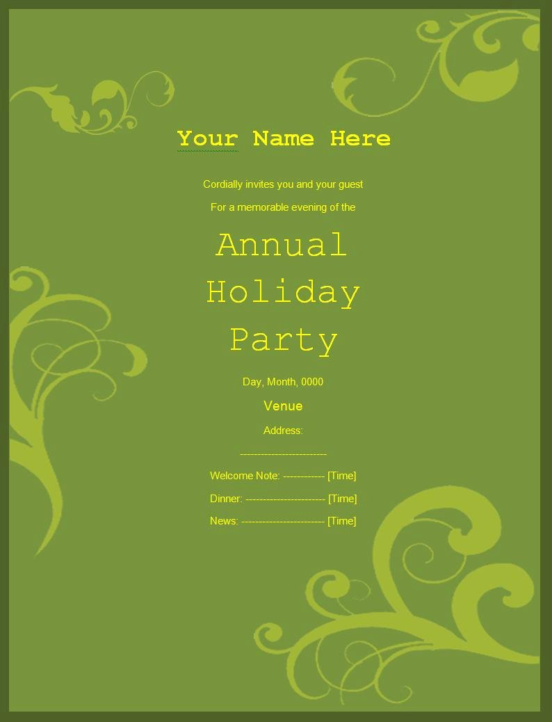 10 Party Invitation Templates