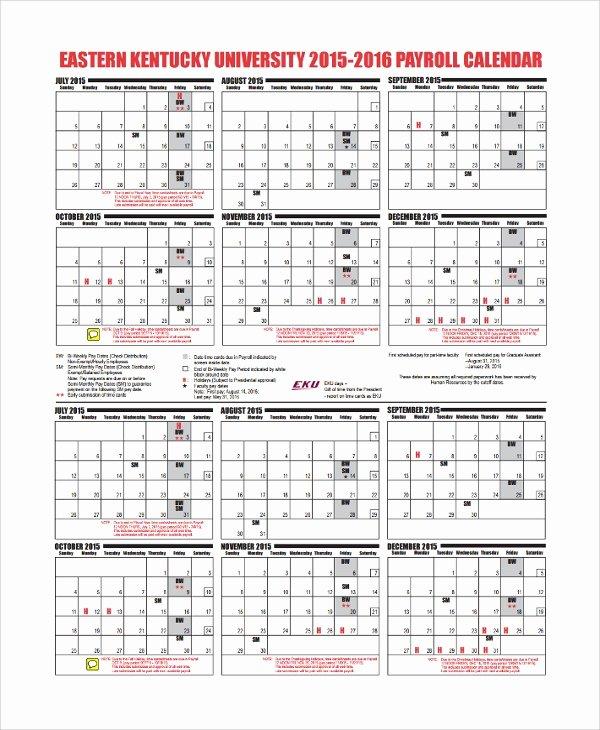 10 Payroll Calendar Templates