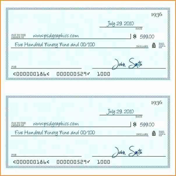 10 Payroll Check Printing Template