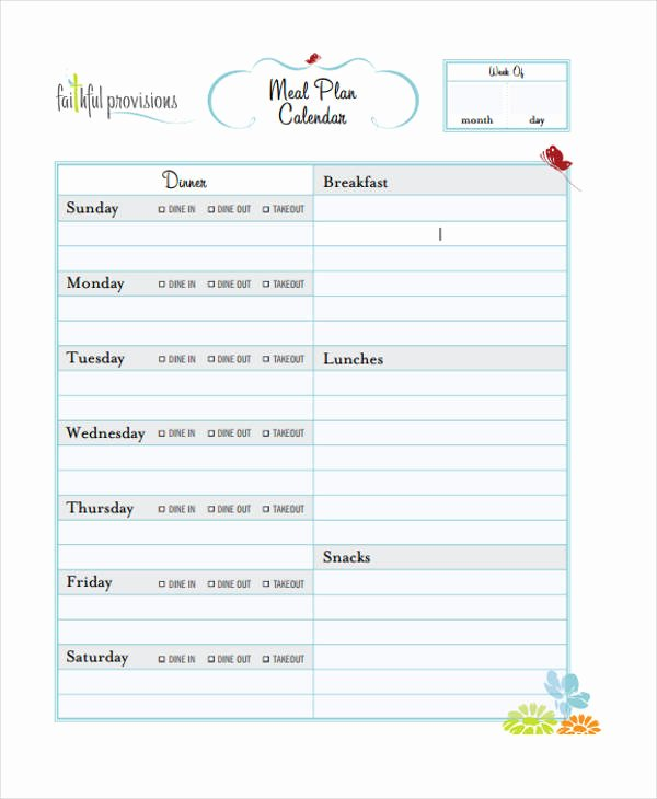 10 Planning Calendar Templates Sample Example