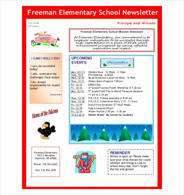 10 Preschool Newsletter Templates – Free Sample Example