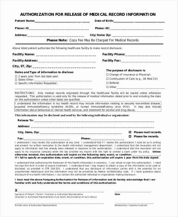 10 Printable Medical Authorization forms Pdf Doc
