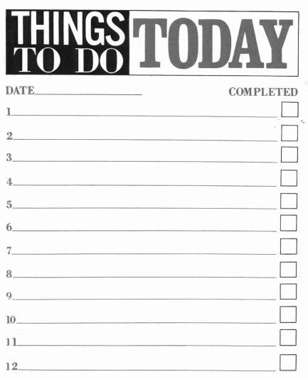 printable list template