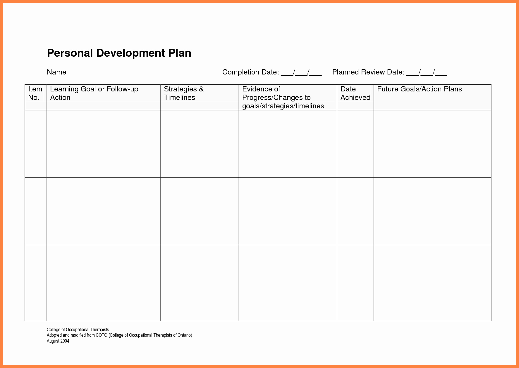 10 Professional Development Report Template