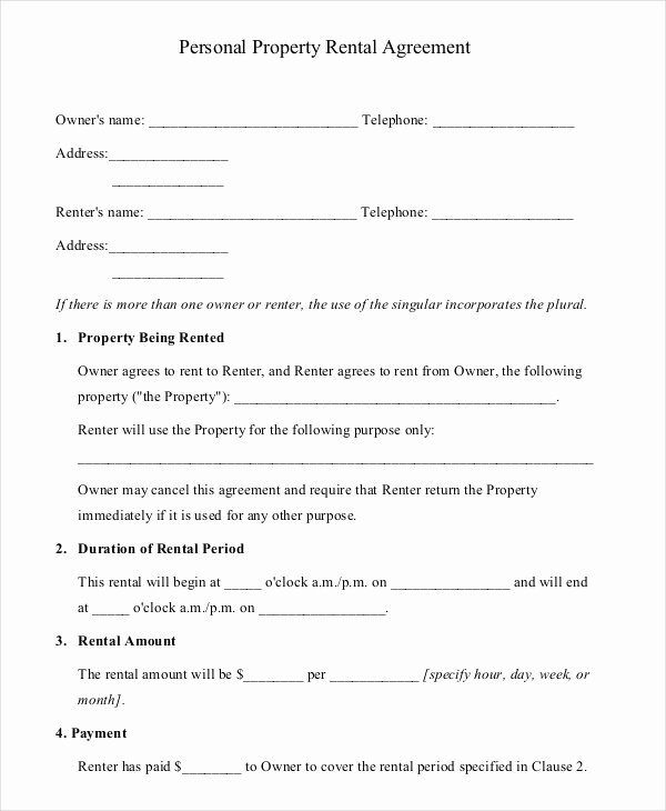 10 Property Rental Agreement Doc Pdf
