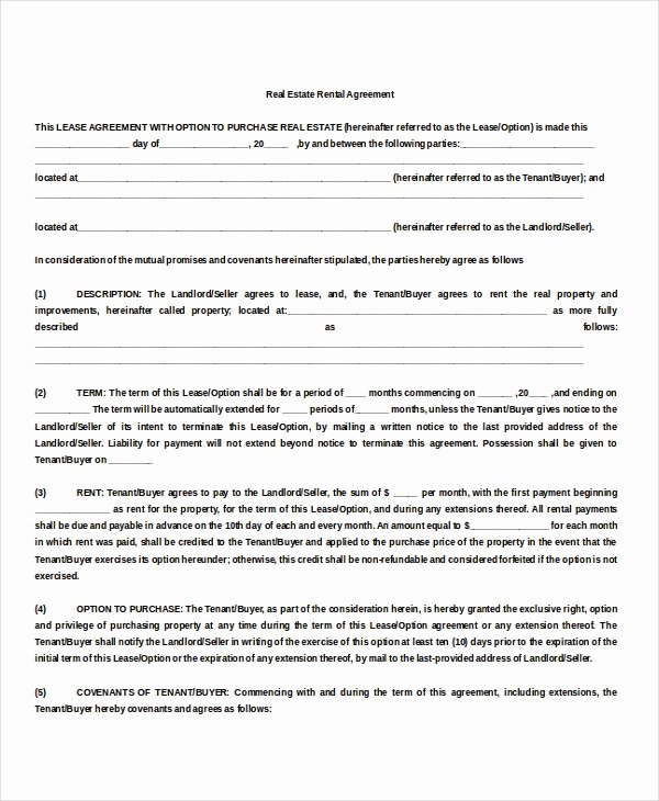 10 Property Rental Agreement Doc Pdf