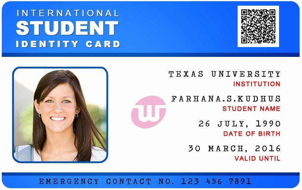 post psd university card