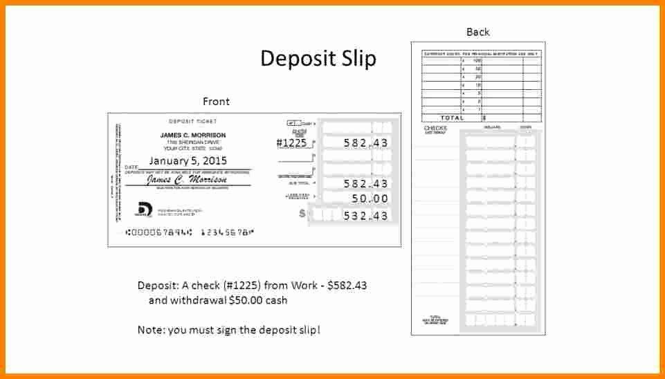 10 quickbooks deposit slip template