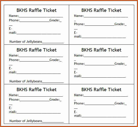 10 Raffle Ticket Templates Bud Template Letter