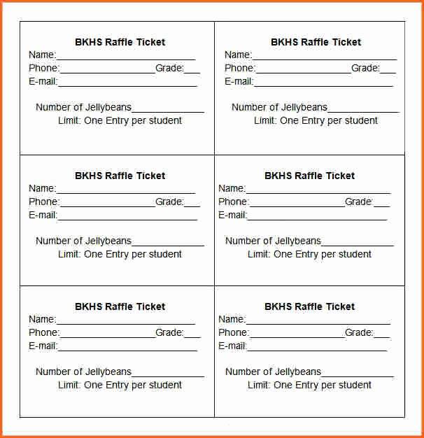 10 Raffle Ticket Templates Bud Template Letter