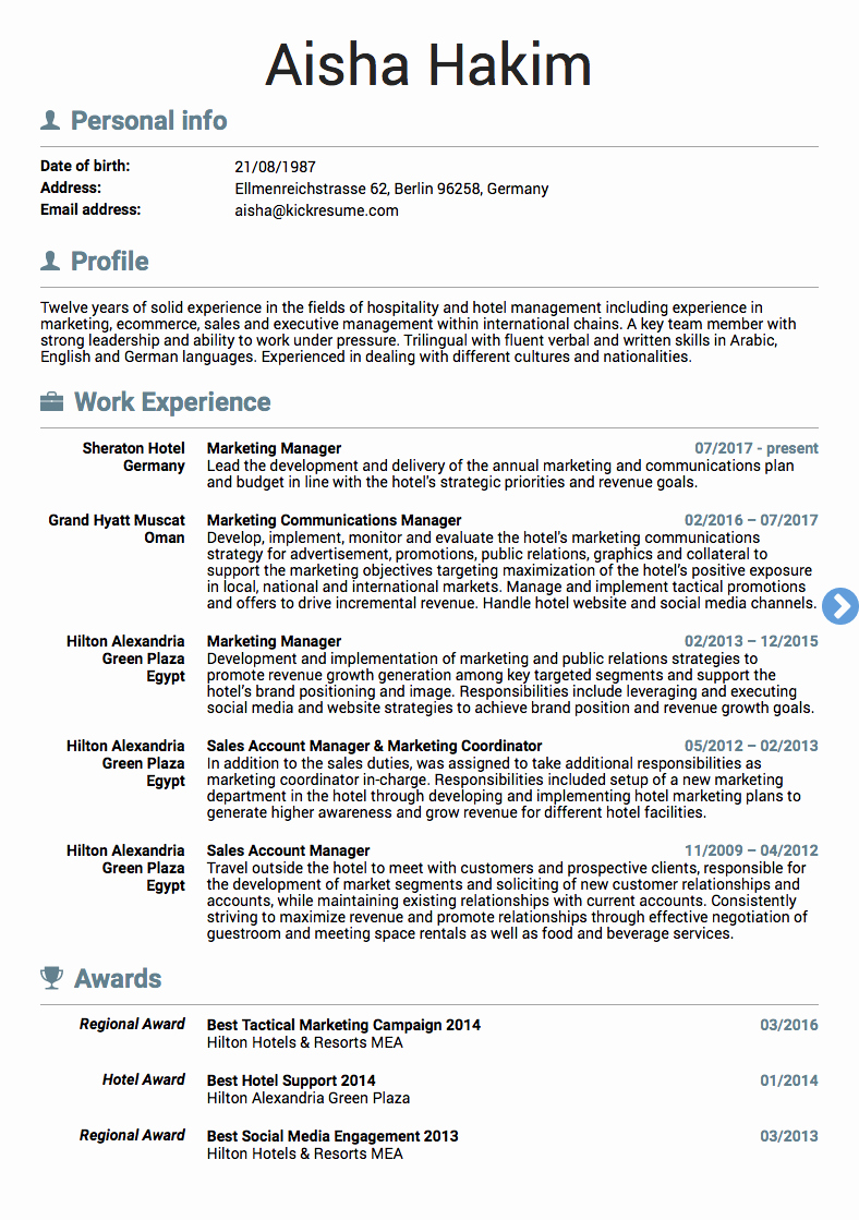 10 Real Marketing Resume Examples that Got People Hired at