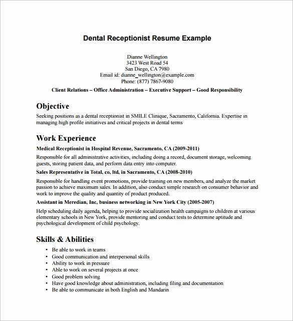 10 Receptionist Resume Templates to Download