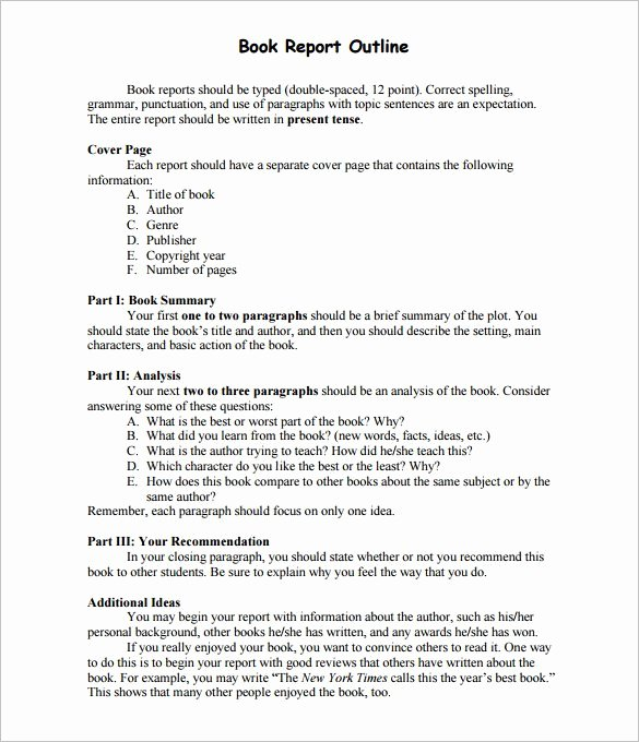 10 Report Outline Template Google Doc Pdf Apple Pages