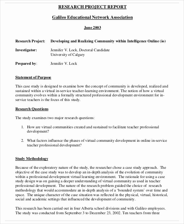 10 Research Report Templates Free Sample Example