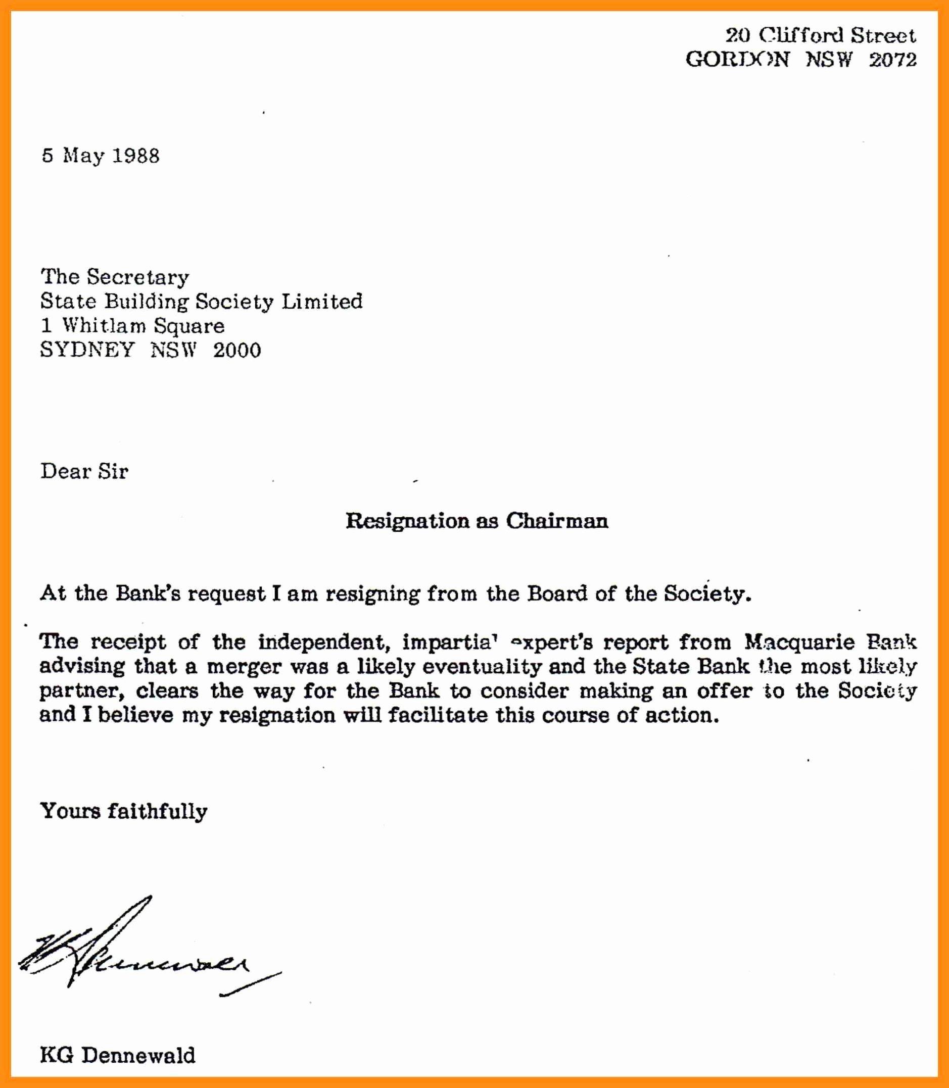 10 Resignation Letter Doc