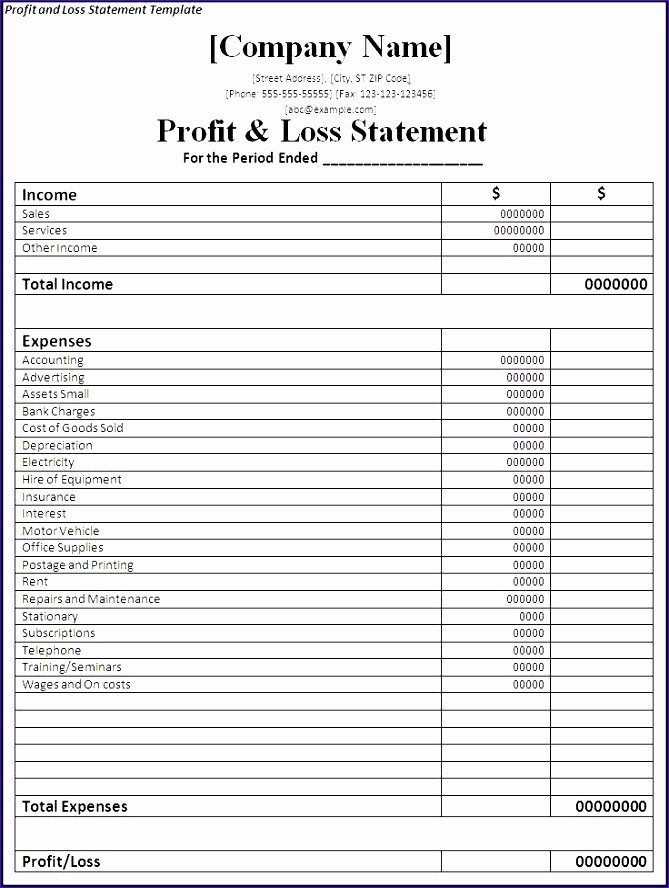 10 Restaurant In E Statement Template Excel