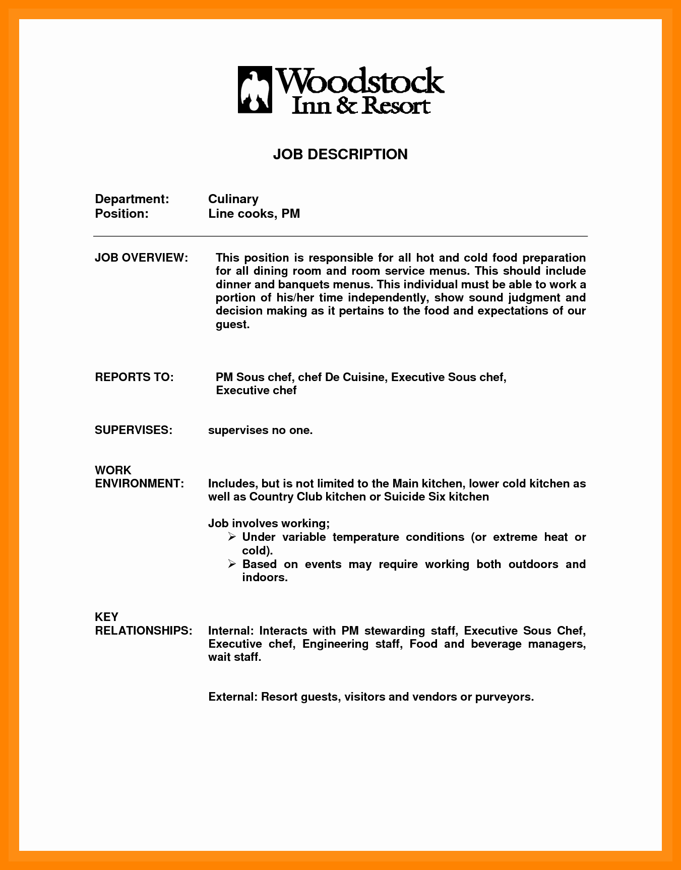 Cook Resume Sample Pdf New Cv Objectives Examples Line Latter