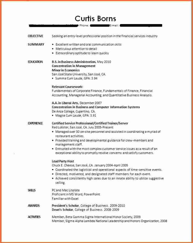 10 Resume Template for Recent College Graduate Bud