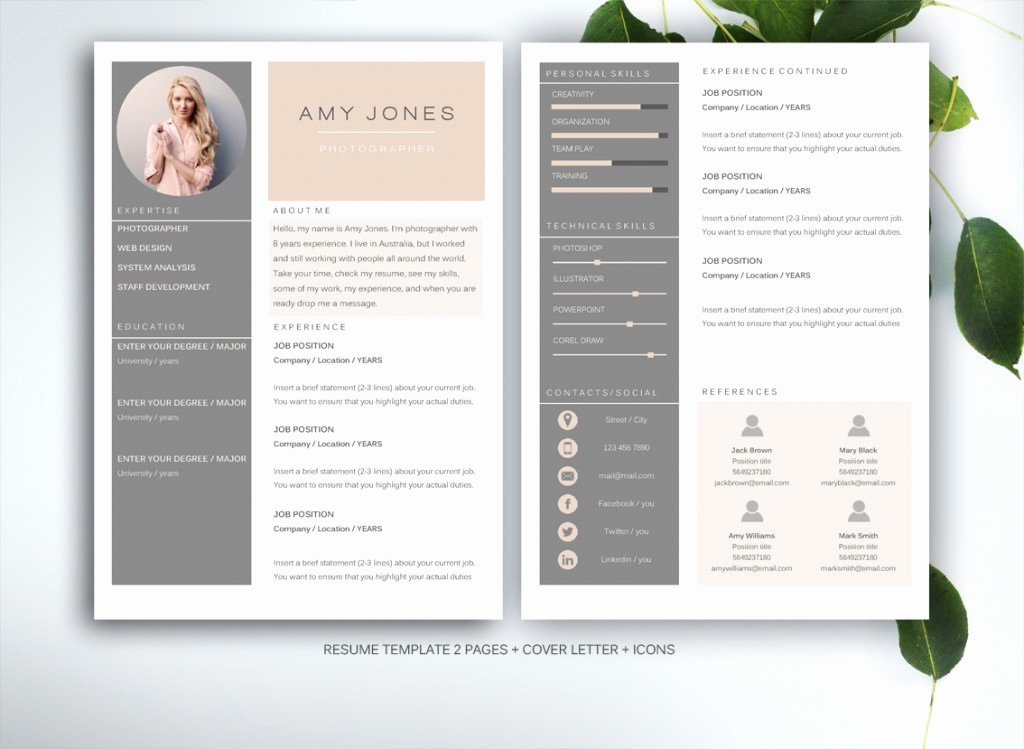 10 Resume Templates to Help You A New Job Premiumcoding