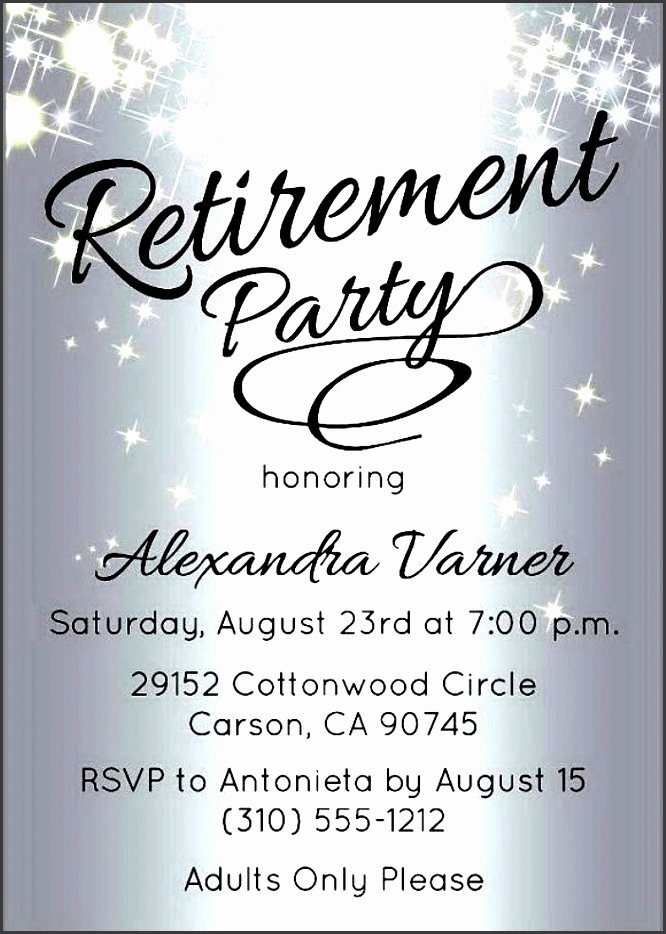10 Retirement Party Invitation Template Sampletemplatess