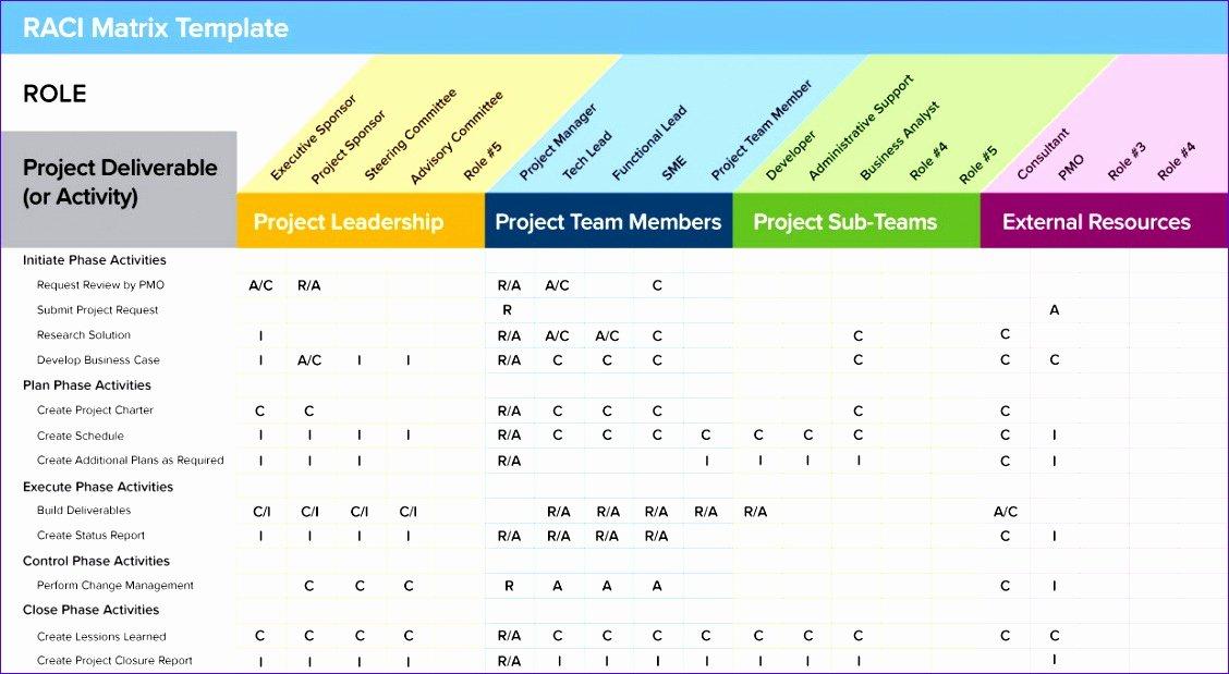 10 Roles and Responsibilities Matrix Template Excel