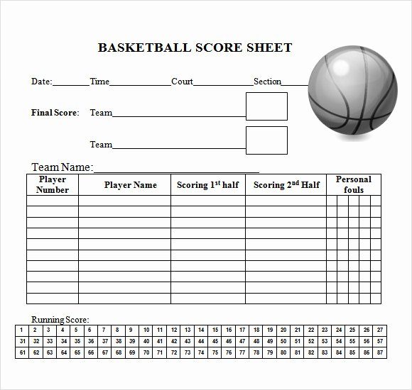 10 Sample Basketball Score Sheets