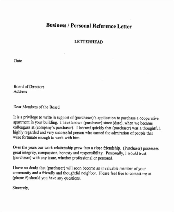 10 Sample Business Reference Letter Templates Pdf Doc