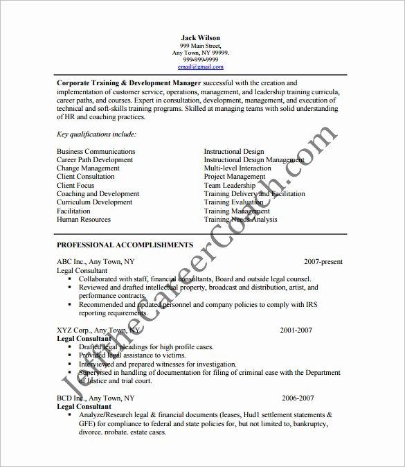 10 Sample Consultant Resume Templates