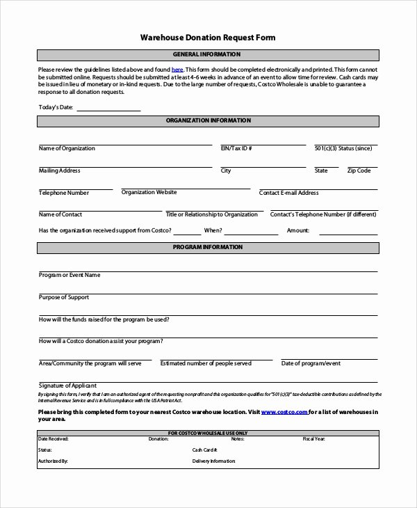 10 Sample Donation Request forms – Pdf Word
