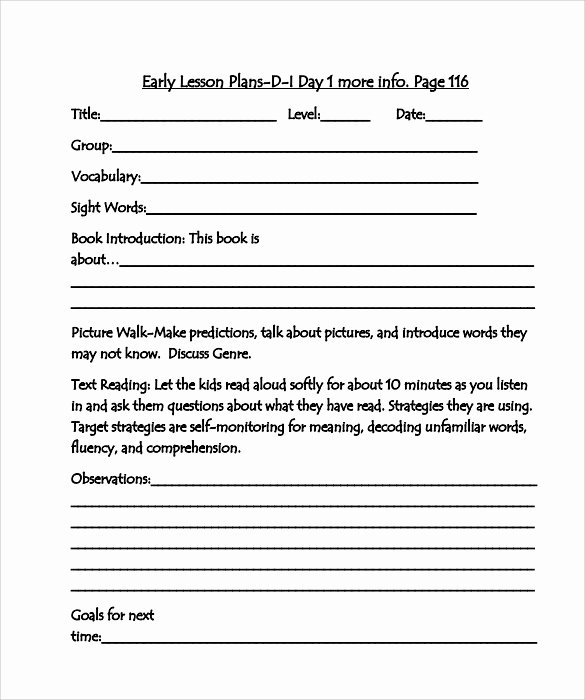10 Sample Guided Reading Lesson Plans